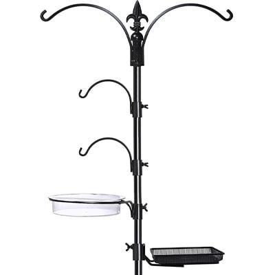 bird feeder pole with feeders