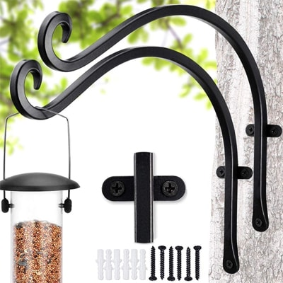 bird feeder pole hooks