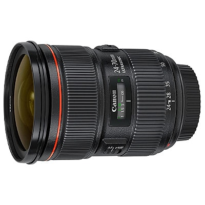 lens on a white background