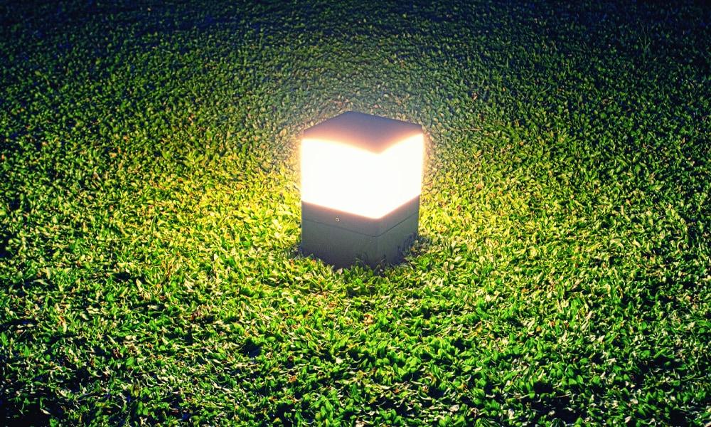 night light in backyard