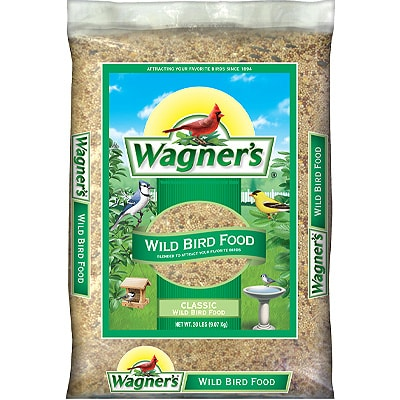 package of bird seeds on a white background