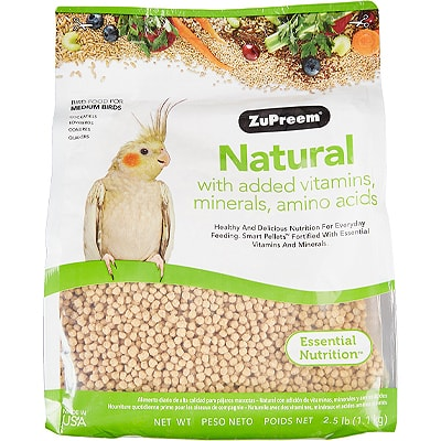 bird seed pacakge on a white background