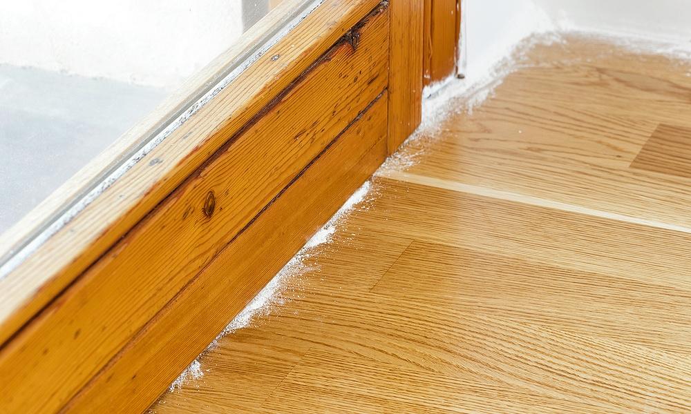powder on floor