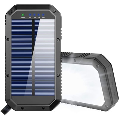 solar charger on a white background